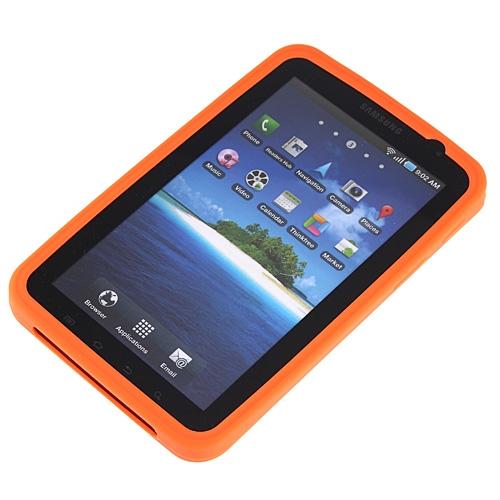 Silicon Skin Case for Samsung Galaxy Tab P1000 Orange