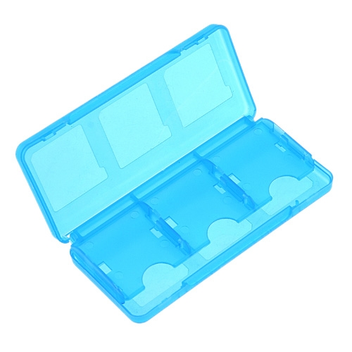 Blue Plastic Case for Nintendo 3DS Game Cards 6-Supported