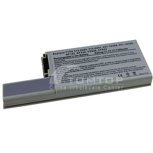 11.1V 7200mAh Battery 9 Cells Laptop Notebook for DELL D820H