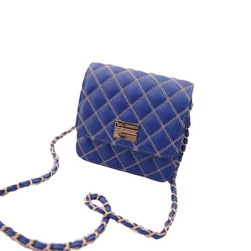 Nueva moda mujer Cruz bolsa de plástico acolchado diseño cadena correa para el hombro bolso mensajero rápido magnético