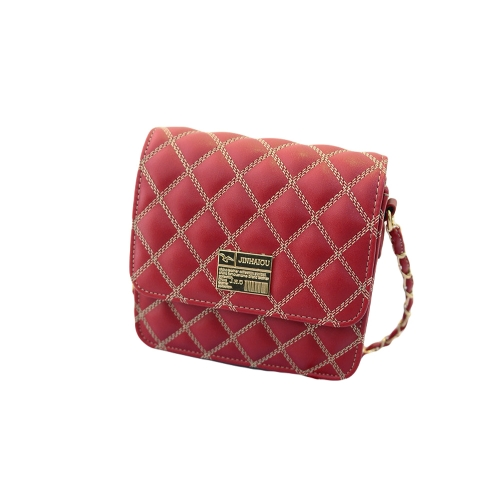 New Fashion Women Cross Body Bag Quilted Design Chain Shoulder Strap Magnetic Snap Messenger Shoulder Bag