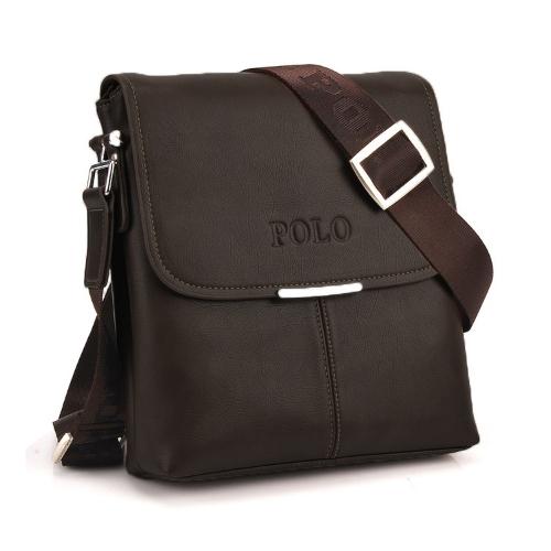 Hombres VINTAGE bolso PU suave cuero aleta negocio Casual maletín mensajero bolsa negro/café/marrón