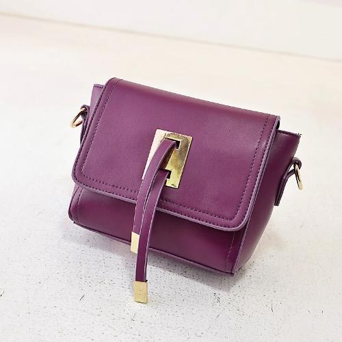 Pequeno saco de ombro do Zipper de cintas de moda mulheres bolsa Crossbody Flap Top bloco metálico