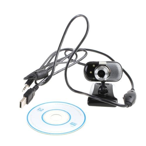 USB 2.0 30.0M 3 LED PC Camera HD Webcam Camera Web Cam + MIC CD for Computer PC Laptop