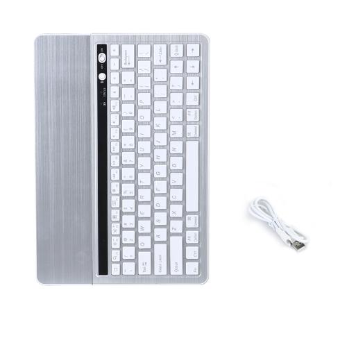 Aluminum Slim Bluetooth Wireless Keyboard Dock Stand for iPad Tablet PC