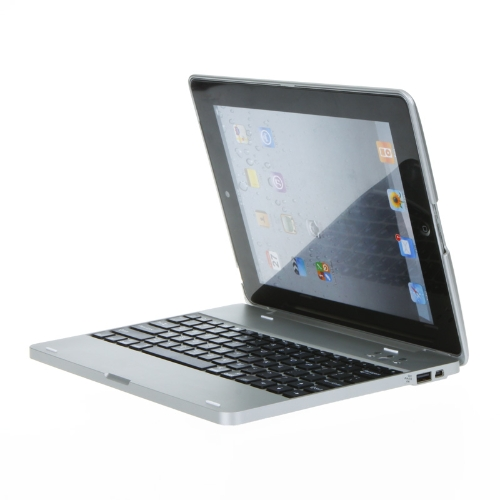 Powerbank Bluetooth Wireless Keyboard Case Cover Stand for Apple The New ipad 2/3 Silver