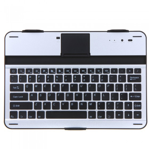 Aluminum Wireless Bluetooth Keyboard Case Cover Stand for Samsung Galaxy Note 10.1