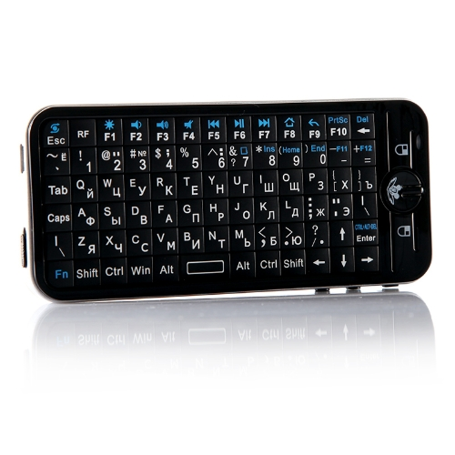 Russian Version iPazzport Fly Air Mouse Mini Wireless Keyboard with IR Learning Remote