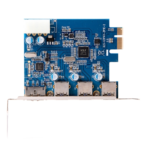 SuperSpeed USB 3.0 + ESATA III PCI-E PCI Express 4-Port with 4-pin IDE Power Connector