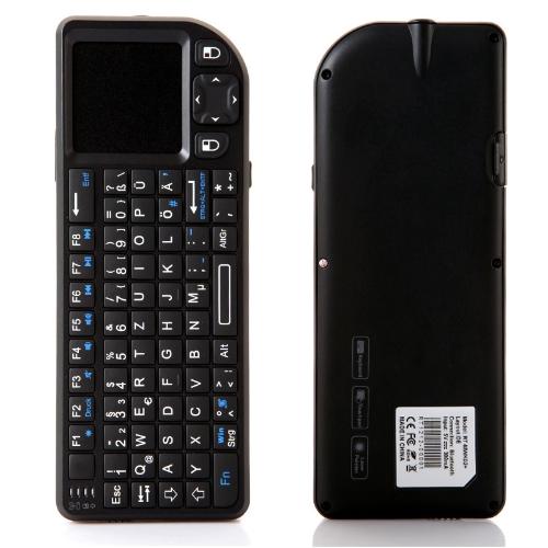German Version Rii Mini Wireless Bluetooth Keyboard Mouse Touchpad