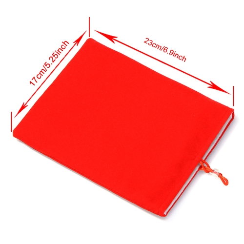 Doppia stoffa manica borsa/custodia protettiva per iPad Mini Tablet PC Kindle Fire MID Red 8