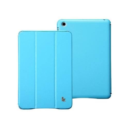 Couro sintético magnética inteligente cobrir proteção caso Stand para iPad mini acordar dormir Ultrathin azul