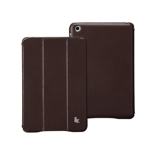 合成皮革製磁気スマート カバー保護スタンド ケース ipad とミニ ウェイク アップ睡眠極薄ブラウン