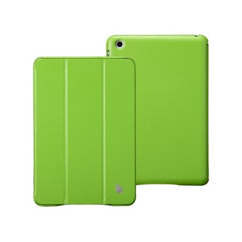 Couro sintético magnética inteligente cobrir proteção caso Stand para iPad mini acordar dormir Ultrathin verde