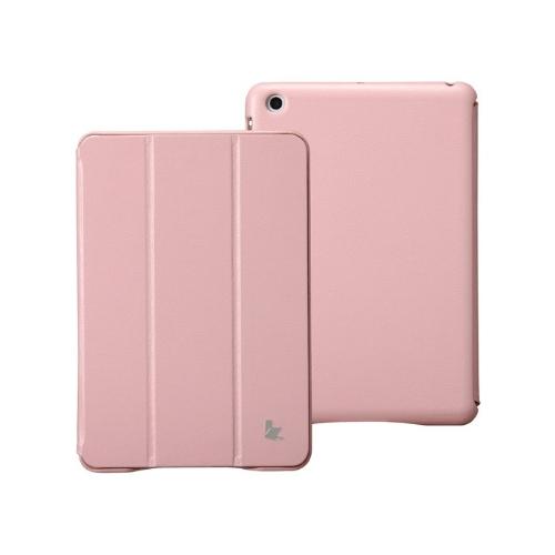 Couro sintético magnética inteligente cobrir proteção caso Stand para iPad mini acordar dormir Ultrathin rosa