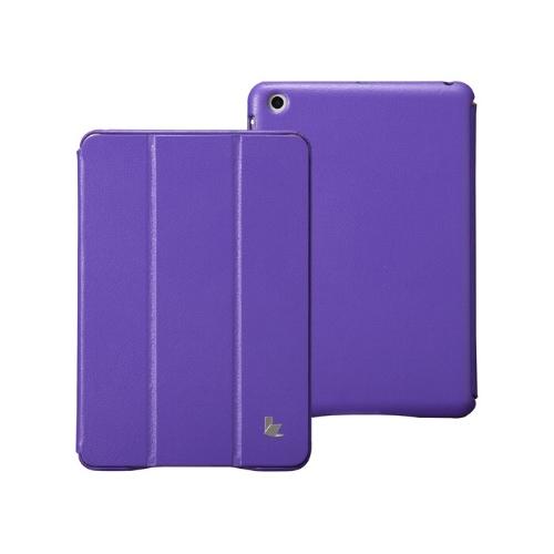 Couro sintético magnética inteligente cobrir proteção caso Stand para iPad mini acordar dormir Ultrathin roxo