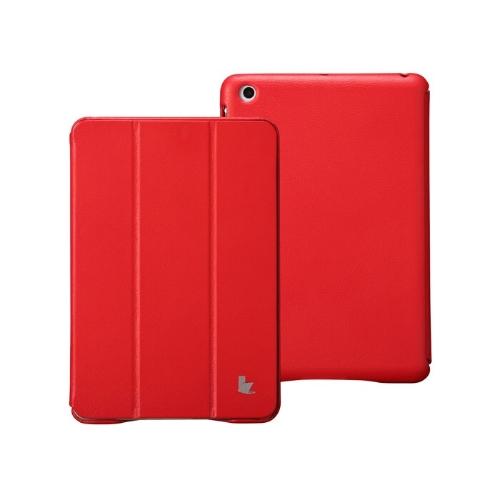 Couro sintético magnética inteligente cobrir proteção caso Stand para iPad mini acordar dormir Ultrathin vermelho