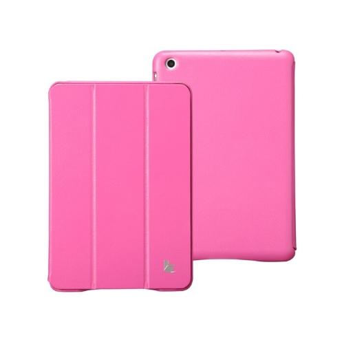Couro sintético magnética inteligente cobrir proteção caso Stand para iPad mini acordar dormir Ultrathin Rose