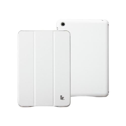 Искусственная кожа магнитные Smart покрытия защитные случае стенд для iPad Мини Будильник сна ультратонких белый