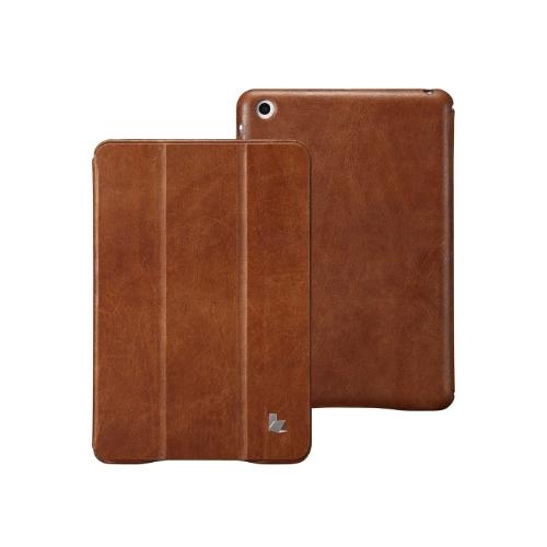 Magnética inteligente cobrir estojo para iPad mini acordar dormir Vintage vaca genuíno couro marrom