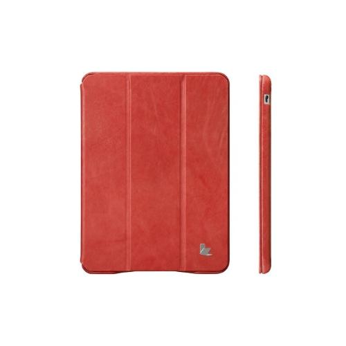 Magnética inteligente cobrir estojo para iPad mini acordar dormir Vintage vaca genuíno couro vermelho