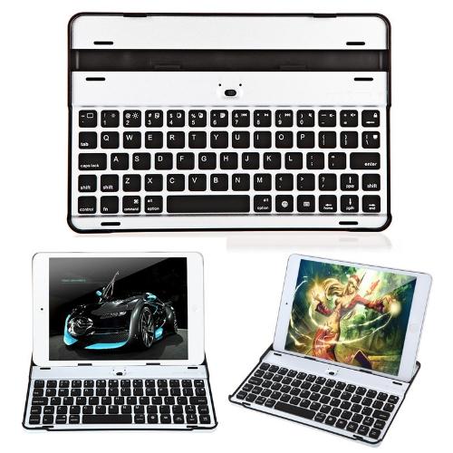 Ultra-thin Aluminum Wireless Bluetooth V3.0 Keyboard Stand Holder Case for Apple iPad Mini