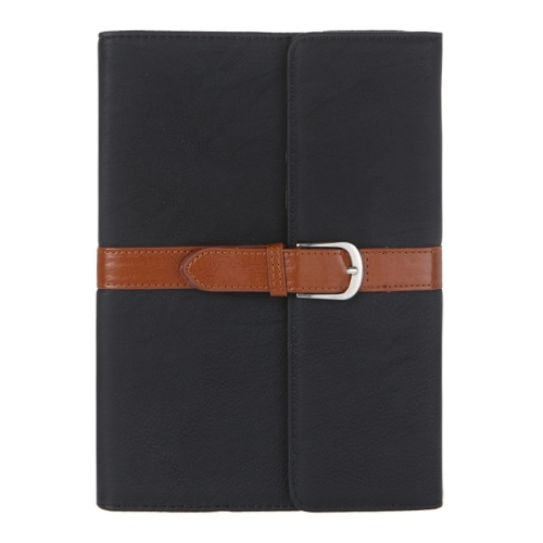 Business PU Leather Smart Cover Magnetic Flip Stand Case for iPad mini Wake & Sleep Retro Buckle Snap Closure Black