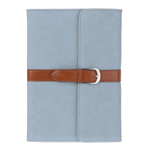 Business PU Leather Smart Cover Magnetic Flip Stand Case for iPad mini Wake & Sleep Retro Buckle Snap Closure Light Blue