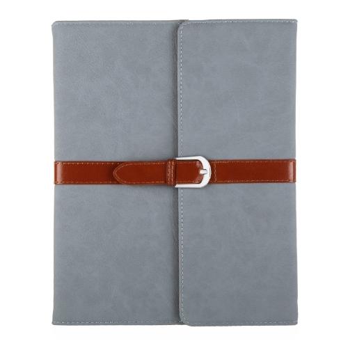 ビジネス PU 革フリップ スマート カバー立って用保護ケース iPad 2 3 4 目を覚ます & 睡眠レトロ バックル スナップ閉鎖ライトブルー