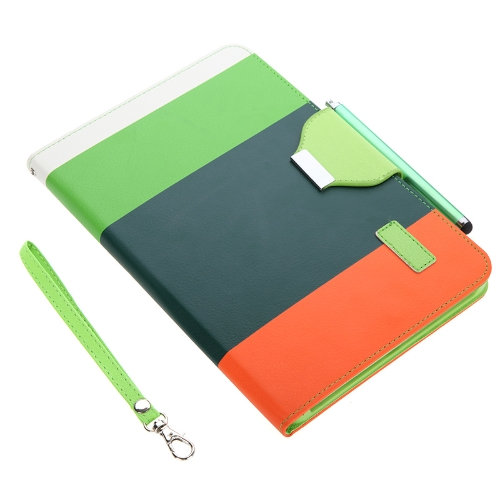 Magnetic Flip Wallet Smart Cover Stand Case for iPad mini PU Leather Hybrid Color Wake/Sleep Gift Stylus Pen Dark Green