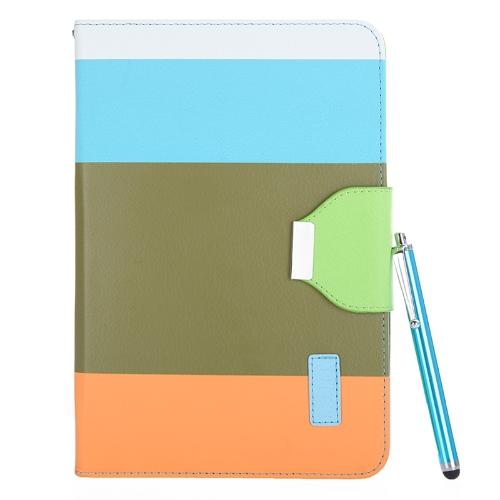 Магнитные флип бумажник Smart покрытия стоят случае для iPad mini Пу кожа гибрид Wake/сон подарок стилус ручка армии зеленый цвет