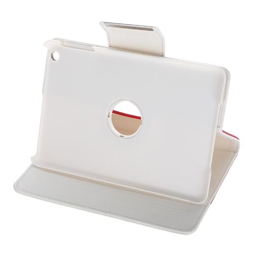 Para iPad mini 360 grau de giro protetora inteligente cobrir Stand caso magnético Snap Flip encerramento acordar dormir dom Stylus caneta vermelho