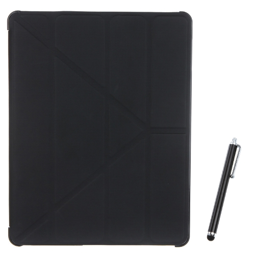 Magnetic Slim PU Leather Smart Cover Stand Case for iPad 2 3 4 Wake & Sleep Ultrathin Multiple Shapes Gift Stylus Pen Black