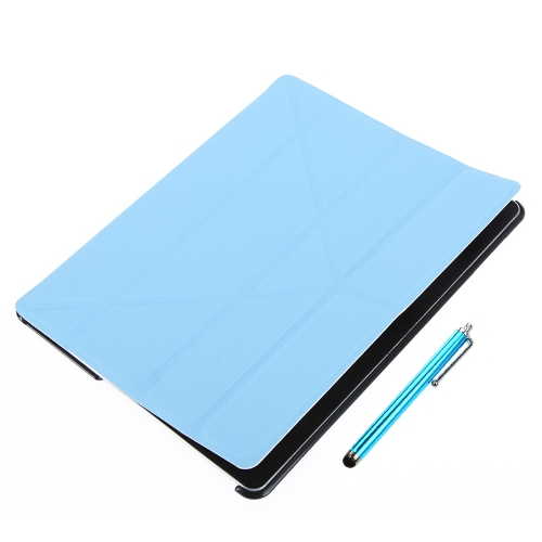 Magnetic Slim PU Leather Smart Cover Stand Case for iPad 2 3 4 Wake & Sleep Ultrathin Multiple Shapes Gift Stylus Pen Blue