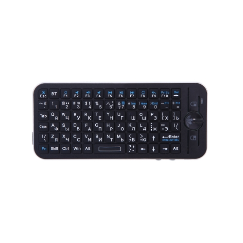 Russian Version iPazzPort Bluetooth Wireless Mini Keyboard Fly Air Mouse Remote with Case for Apple TV Box