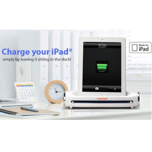 Founder Docking Scanner Charge Station for iPad iPad 2 New iPad 3 Tablets MFi White