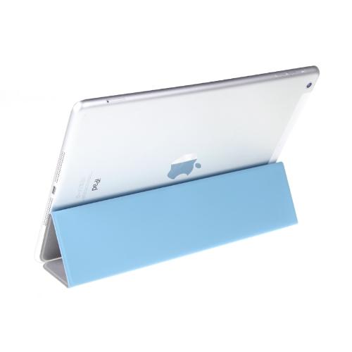 Ultrathin Magnetic Smart Cover 3 Folds Stand for iPad Air Sleep/Wake PU Black
