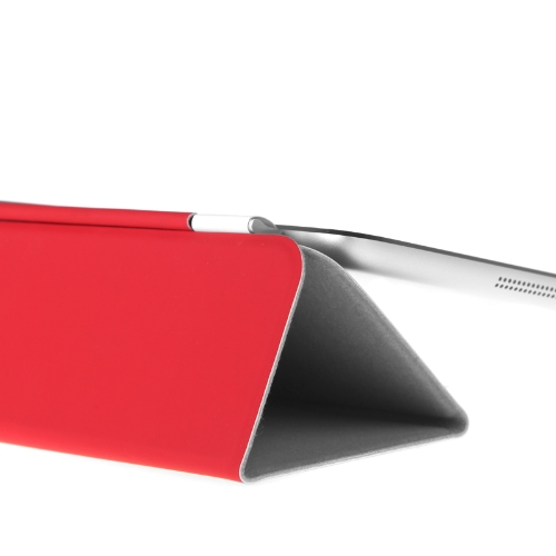 Ultrathin Magnetic Smart Cover 3 Folds Stand for iPad Air Sleep/Wake PU Red