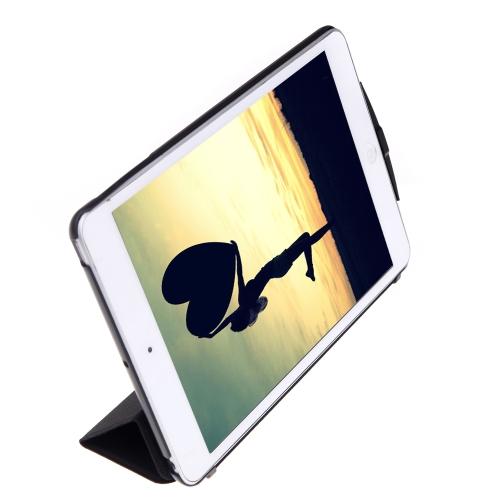 Rammore スペース パック メモリ ケース スマート カバー ipad とミニ 1/2 (No 必要脱獄) ブラック