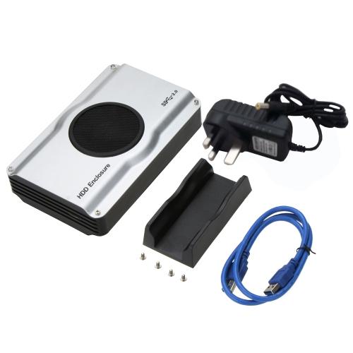 """Dysk twardy 3,5 """"2,5"""" SATA SSD USB 3.0 Dysk twardy z wentylatorem chłodzącym UK Plug"""