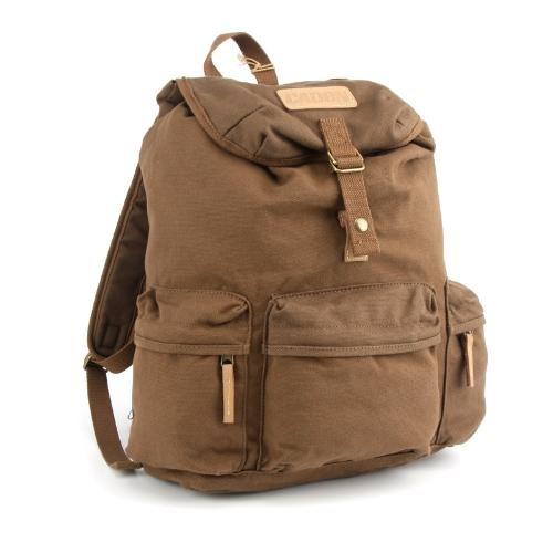 Caden F5 Vintage Canvas Camera Bag DSLR SLR Backpack Travel Rucksack for Canon Nikon Coffee