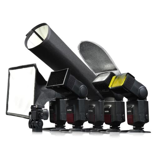Godox  6 in 1 SA-K6 Universial Speedlite Accessories Kit Softbox Filter Reflector Snoot Honey Comb Holder
