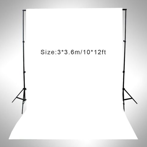 3 * 3.6m / 10 * 12ft Photography Screen Backdrop Muslin Cotton Video Photo Lighting Studio Background White