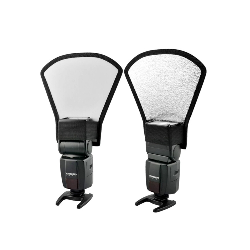 Universal Flash Diffuser Softbox Silver / White Reflector for Canon Nikon Pentax Yongnuo Speedlite