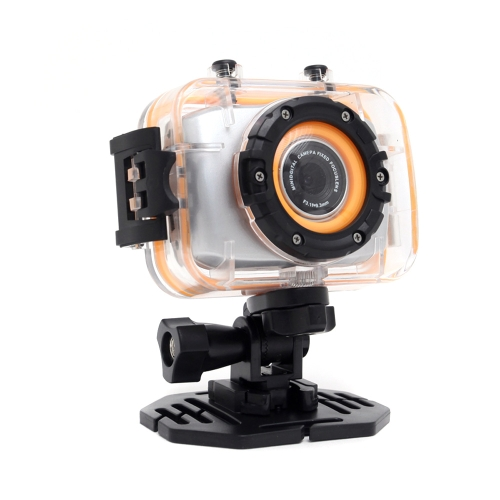FHD 1080P Touch Screen Sports Action Camera Mini Digital Camcorder with Waterproof Case Black