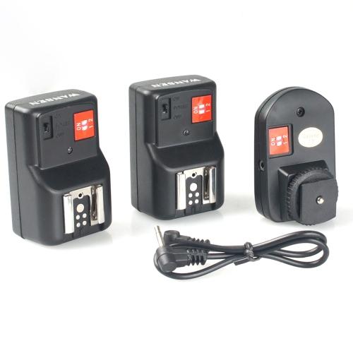 PT-04GY 4 canaux Télécommande sans fil Speedlite Trigger universel  1 transmetteur et 2 récepteurs pour Canon Nikon Pentax Olympus