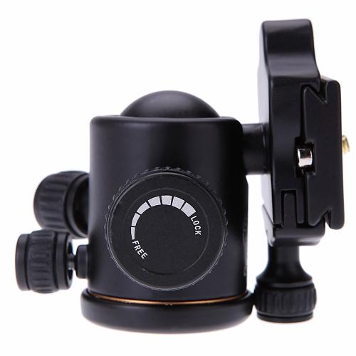 QZSD Q02 Aluminum Camera Tripod Ball Head Ballhead with Quick Release Plate for DSLR Camera Tripod