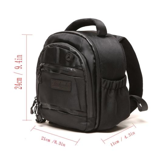 BBK-S3 Camera Backpack Bag Minitype Case with Rain Cover for Canon Nikon Sony DSLR Traveler Lens Camcorder Bag