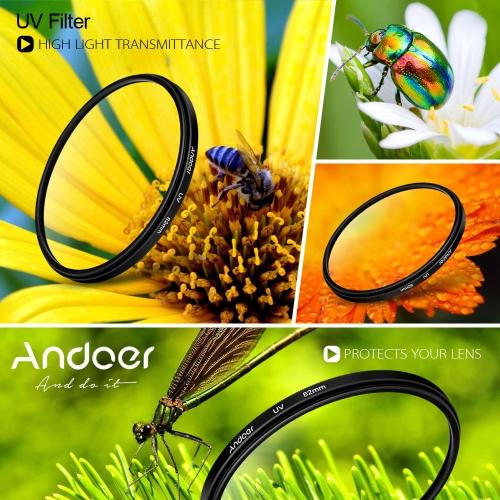 Andoer UV 52mm Filtr ultrafioletowy Lens Protector do Canon Nikon DSLR Camera