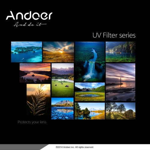 Andoer 77mm UV Ultra-Violet Filter Lens Protector for Canon Nikon DSLR Camera